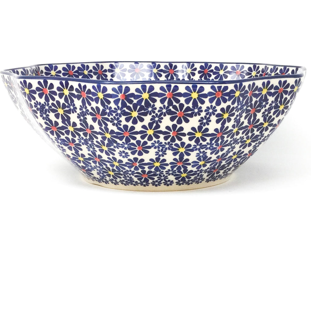 Md New Kitchen Bowl in Flowers on White