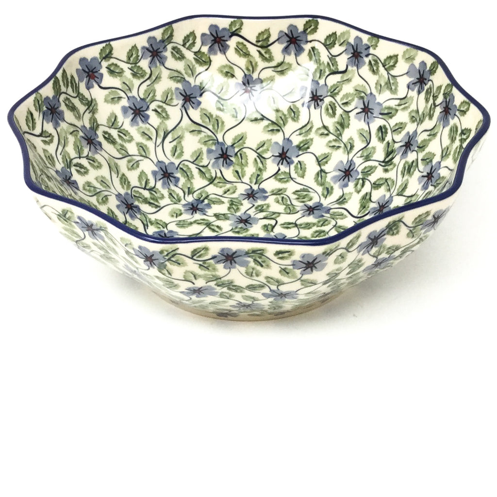 Md New Kitchen Bowl in Blue Clematis
