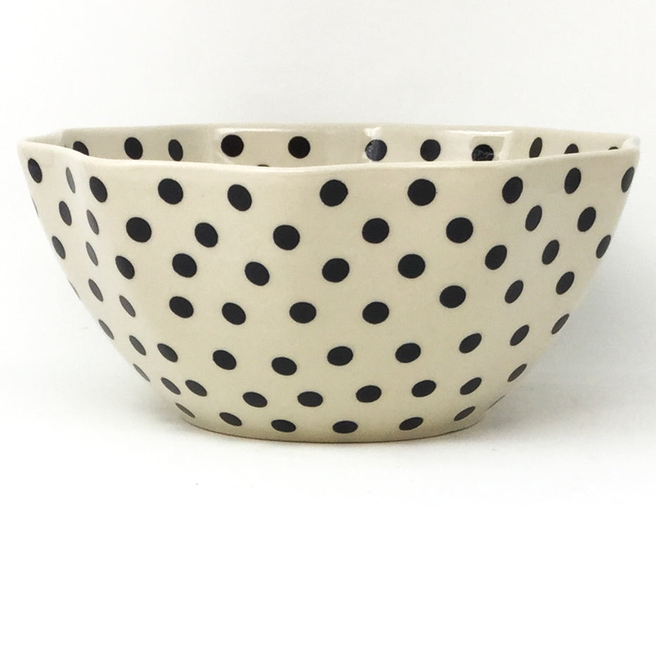 Sm New Kitchen Bowl in Black Polka-Dot