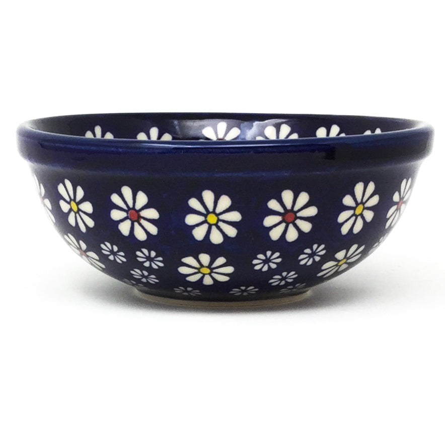 Dessert Bowl 12 oz in Flowers on Blue