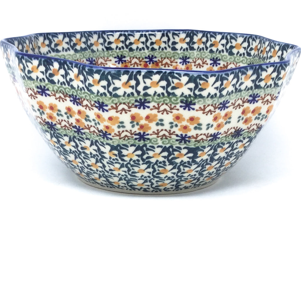 Sm New Kitchen Bowl in White Daisy