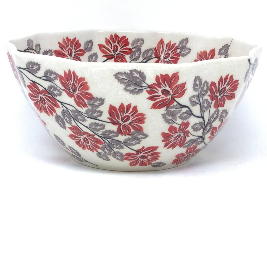 Sm New Kitchen Bowl in Red & Gray