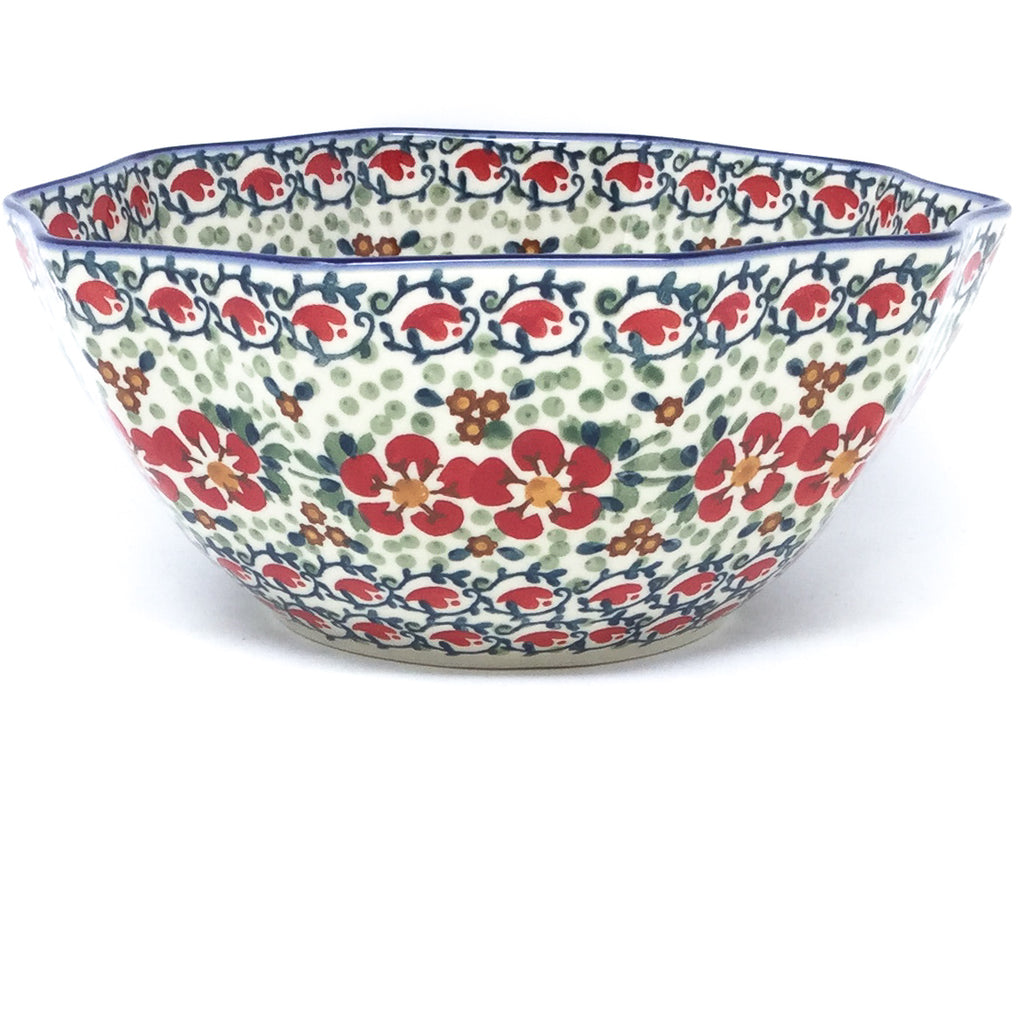 Sm New Kitchen Bowl in Red Poppies