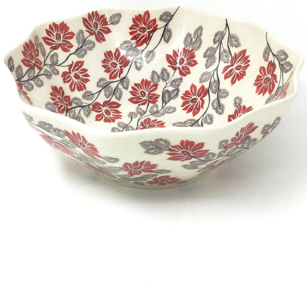 Md New Kitchen Bowl in Red & Gray