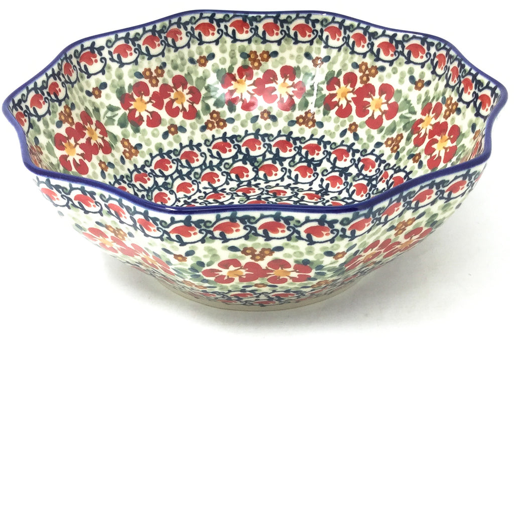 Md New Kitchen Bowl in Red Poppies