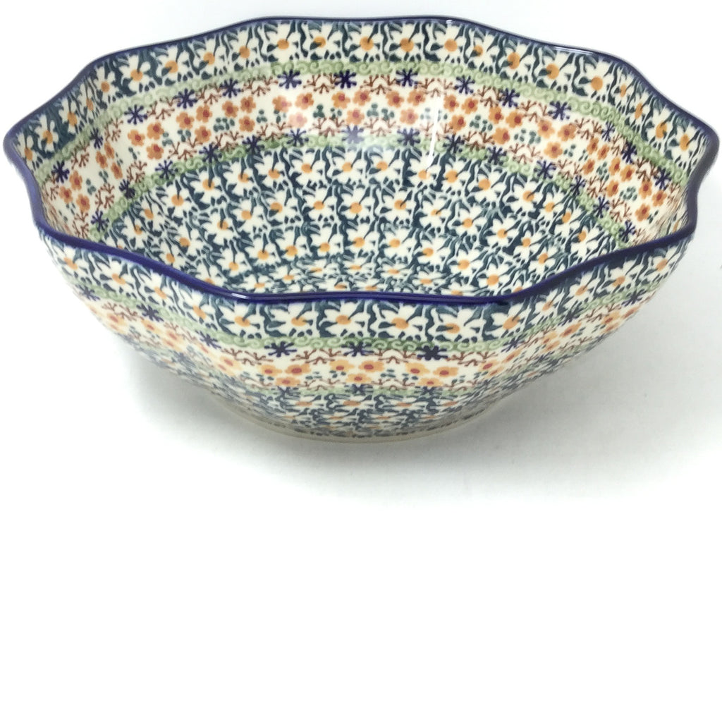 Md New Kitchen Bowl in White Daisy