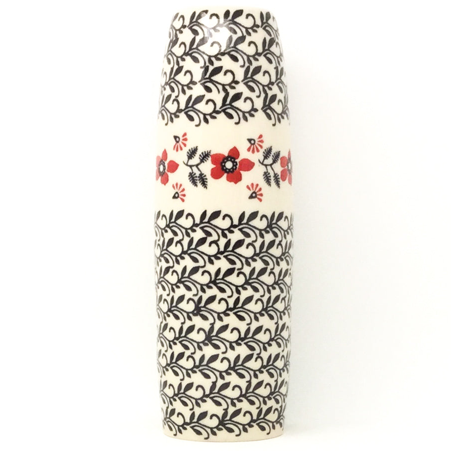 Simple Vase in Red & Black