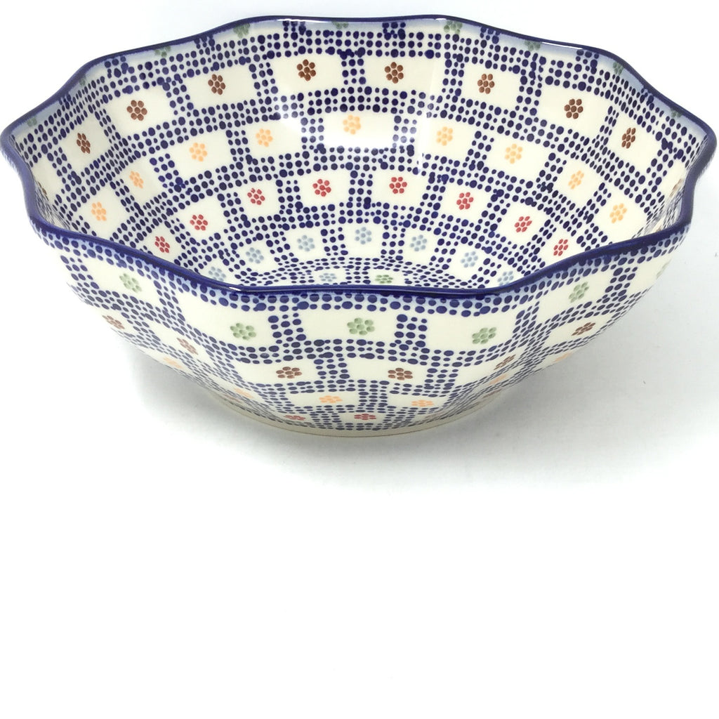 Md New Kitchen Bowl in Modern Checkers
