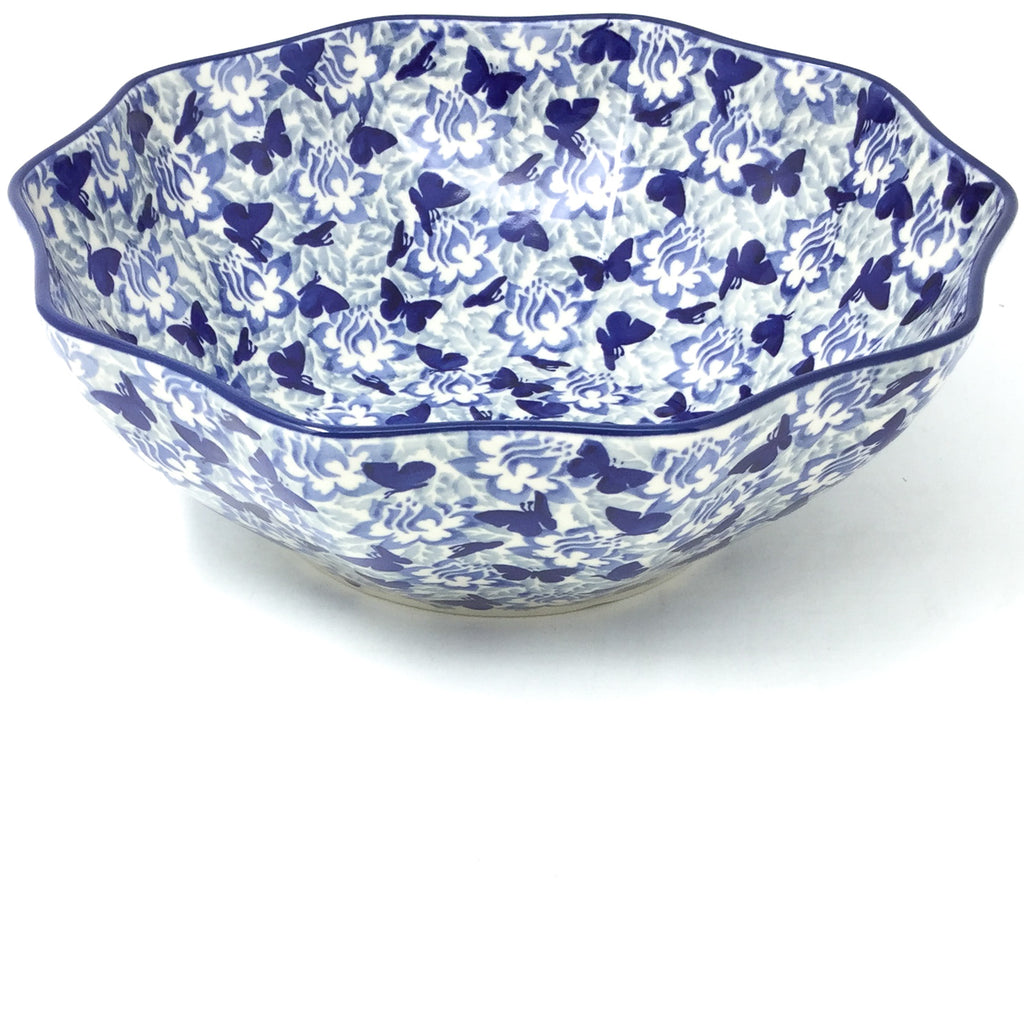 Md New Kitchen Bowl in Blue Butterfly