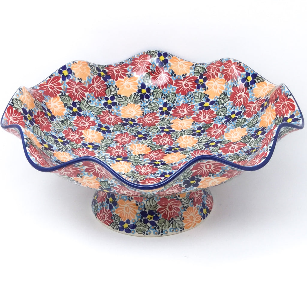 Fluted Pedestal Bowl in Just Glorious