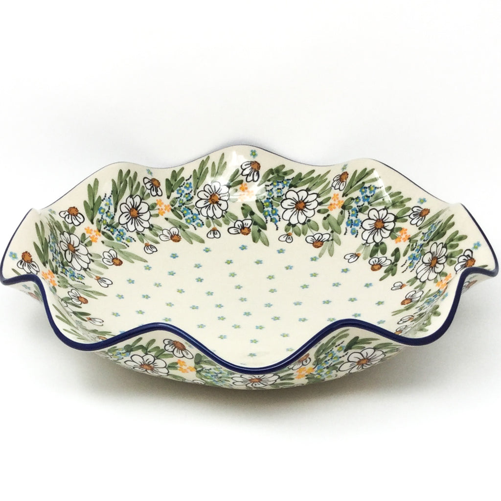 Fluted Pasta Bowl in Spectacular Daisy