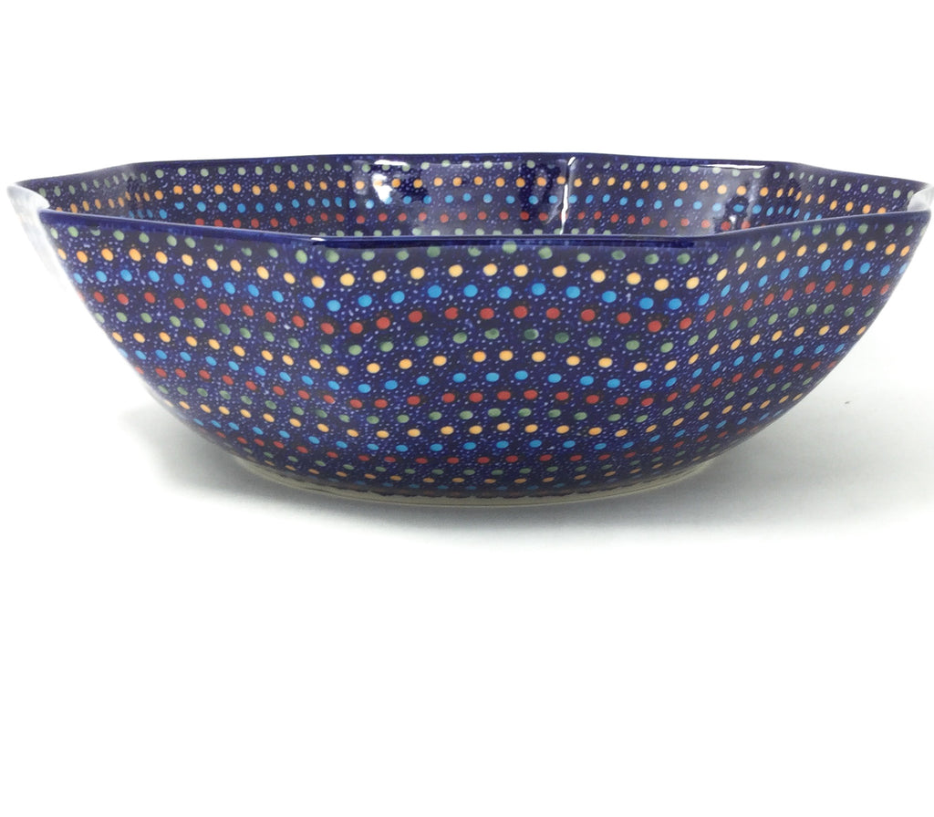 Lg New Kitchen Bowl in Multi-Colored Dots