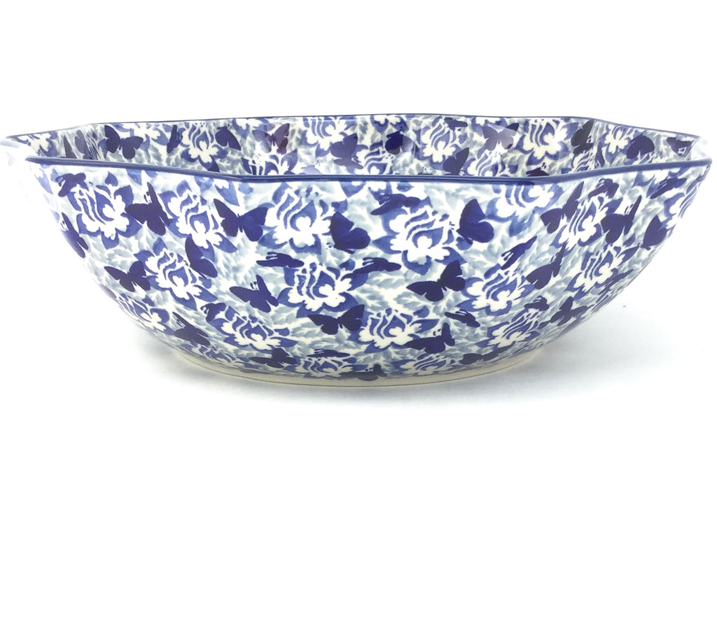Lg New Kitchen Bowl in Blue Butterfly