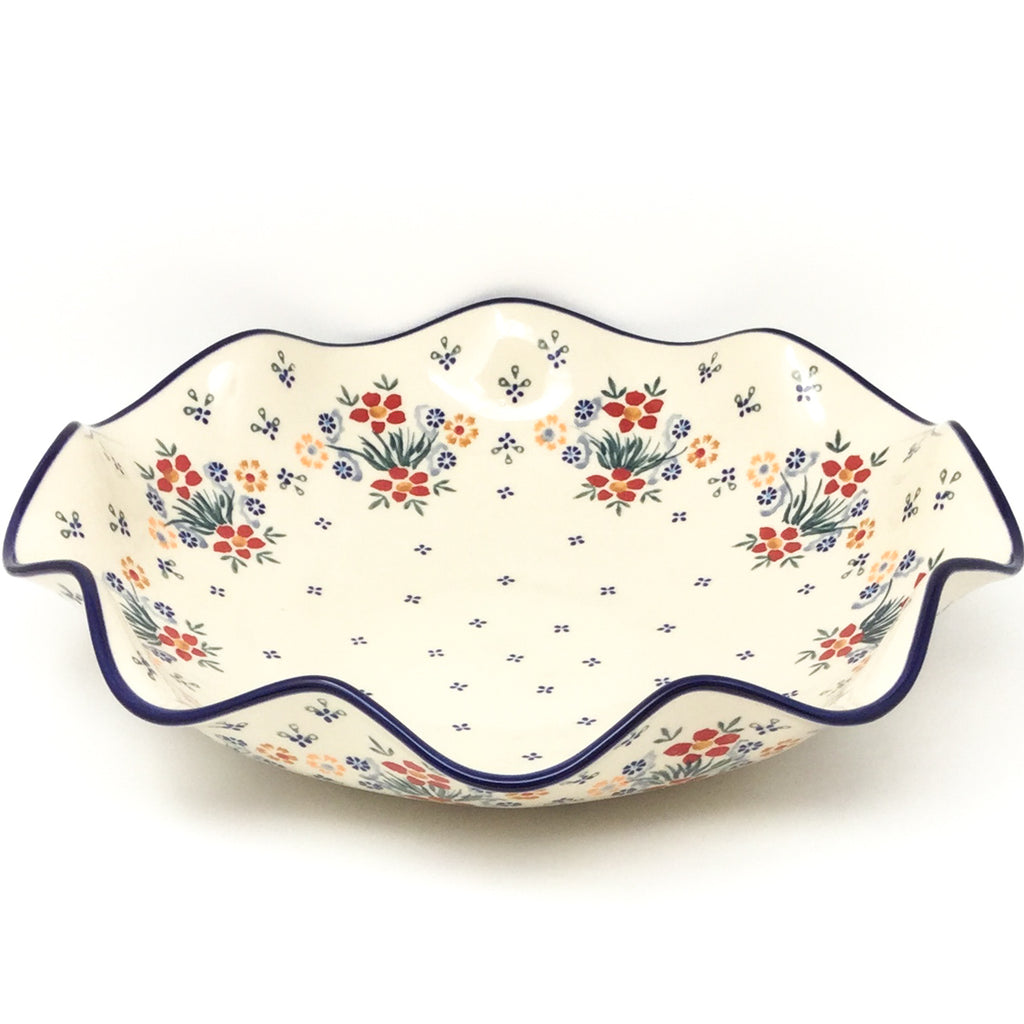 Fluted Pasta Bowl in Delicate Flowers