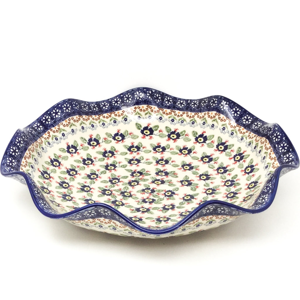 Fluted Pasta Bowl in Forget-Me-Not
