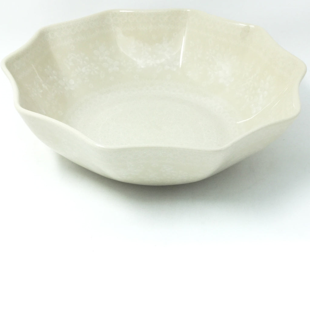 Lg New Kitchen Bowl in White on White