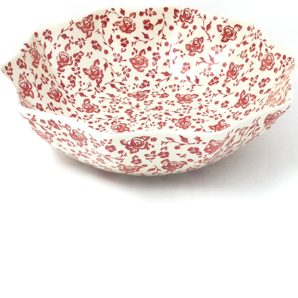 Lg New Kitchen Bowl in Antique Red