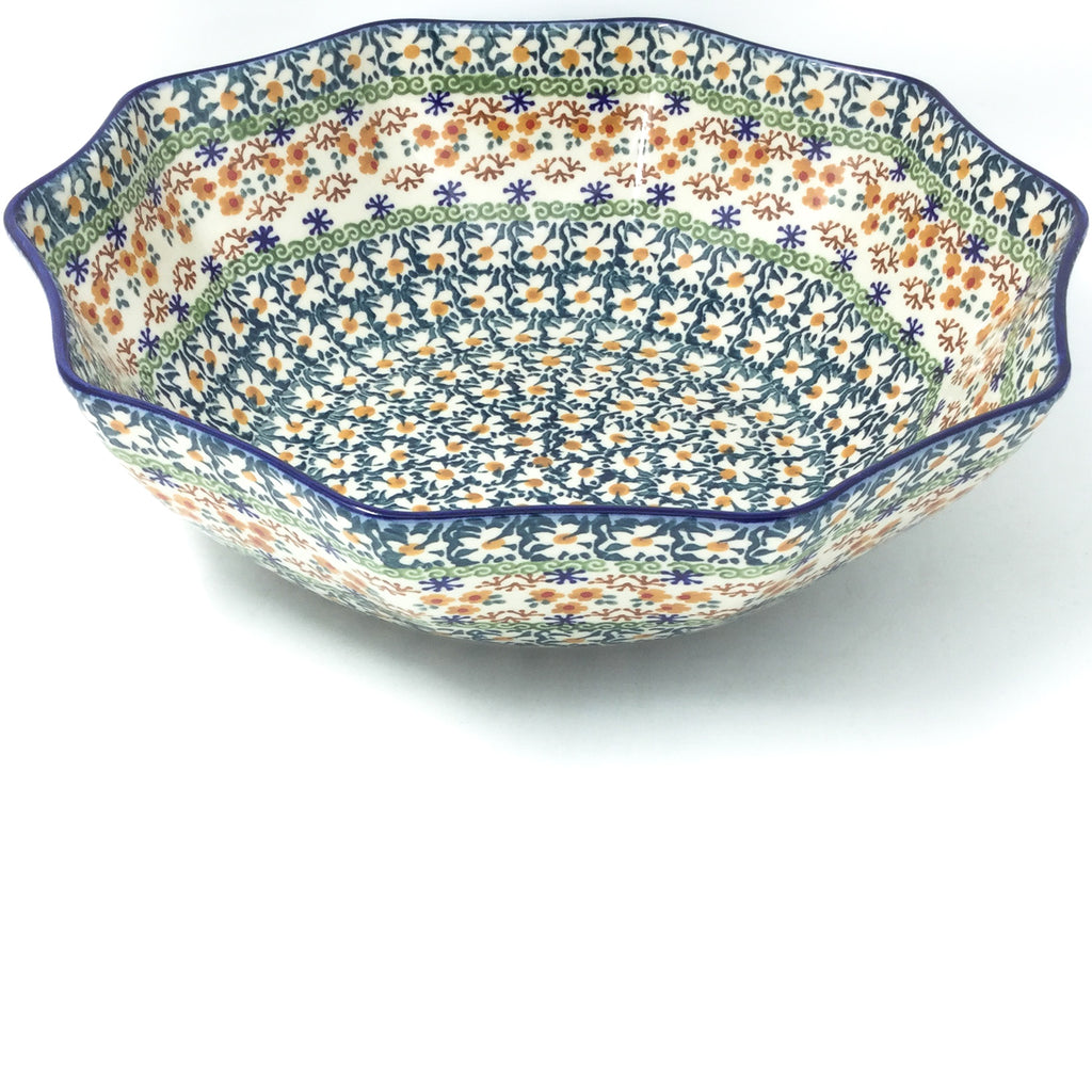 Lg New Kitchen Bowl in White Daisy