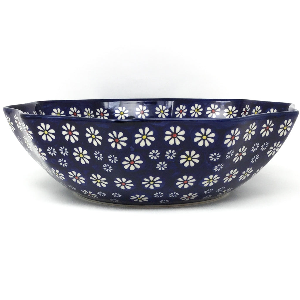 Lg New Kitchen Bowl in Flowers on Blue