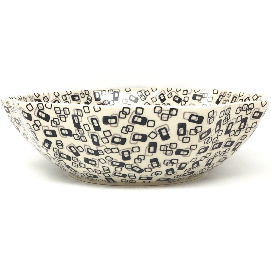 Lg New Kitchen Bowl in Modern Gray & Black