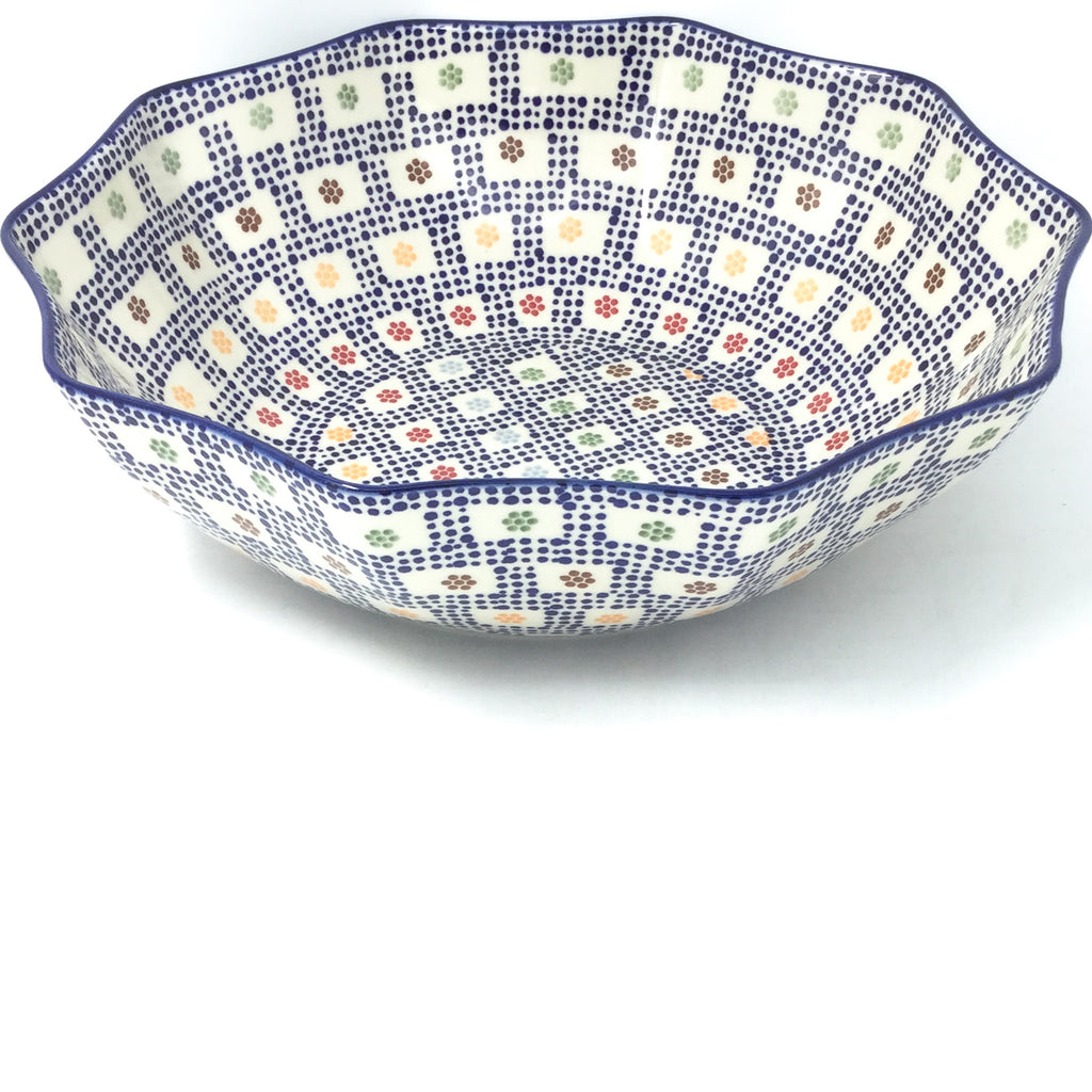 Lg New Kitchen Bowl in Modern Checkers