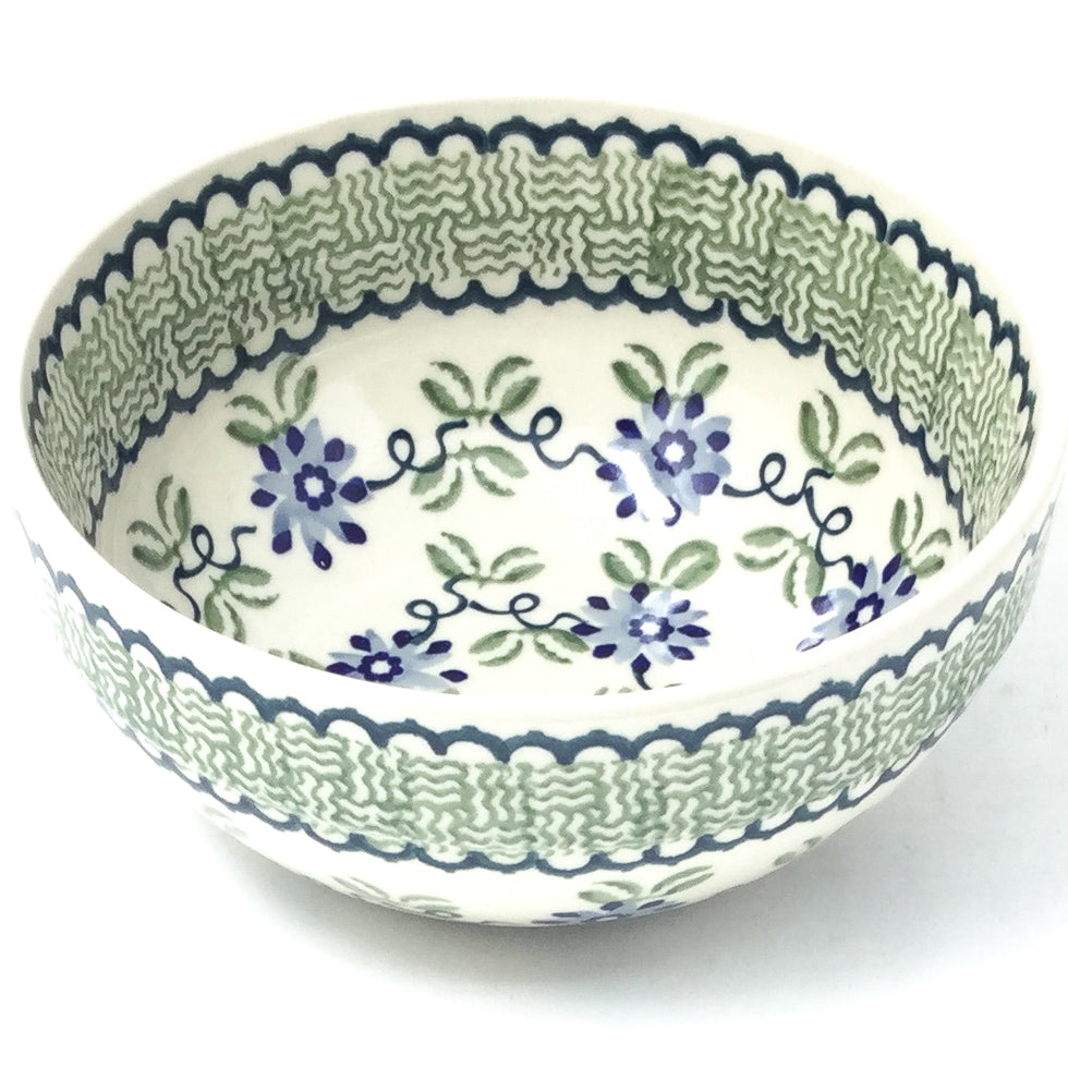 Soup Bowl 24 oz in Blue & Green Flowers