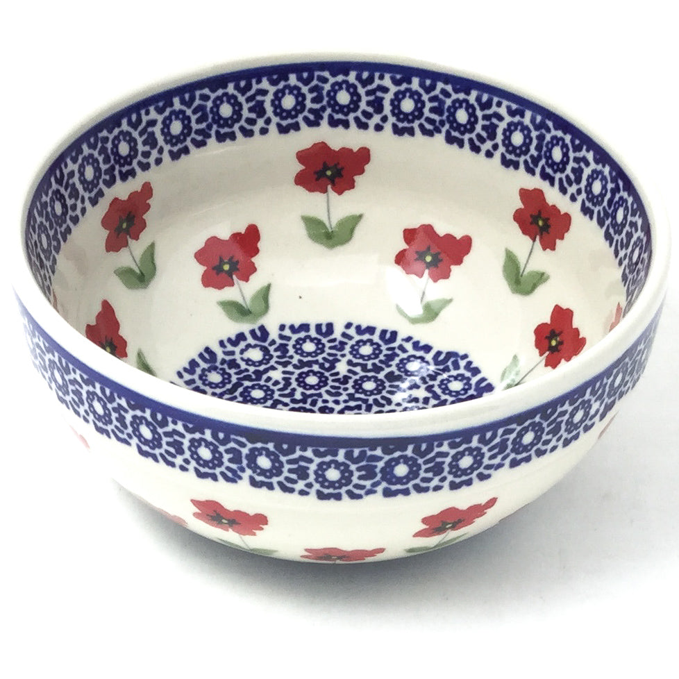 Soup Bowl 24 oz in Red Daisy