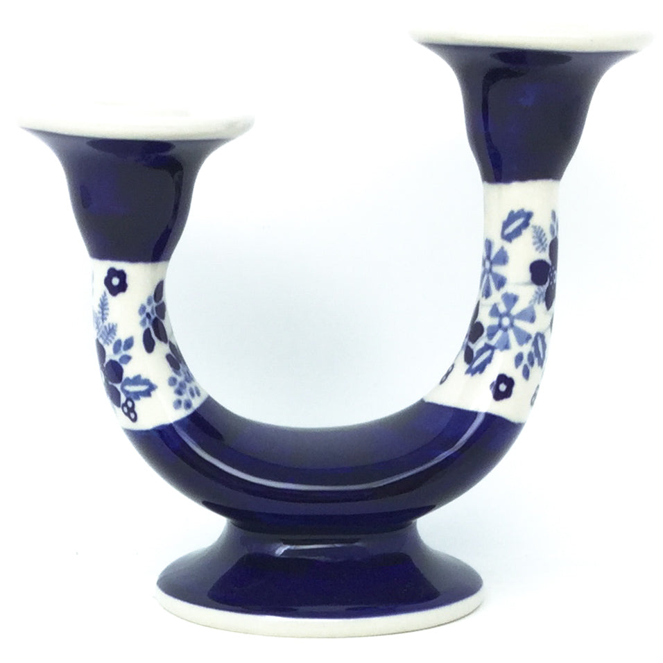 Double Candle Holder in Cobalt Wedding