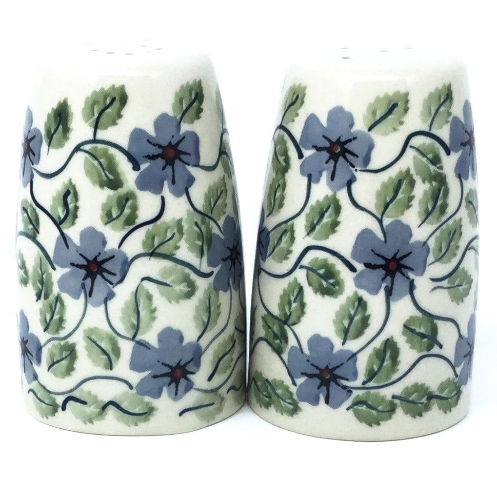 Salt & Pepper Set in Blue Clematis