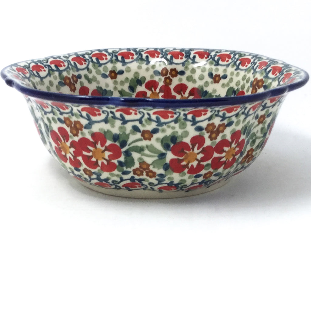 Sm Retro Bowl in Red Poppies