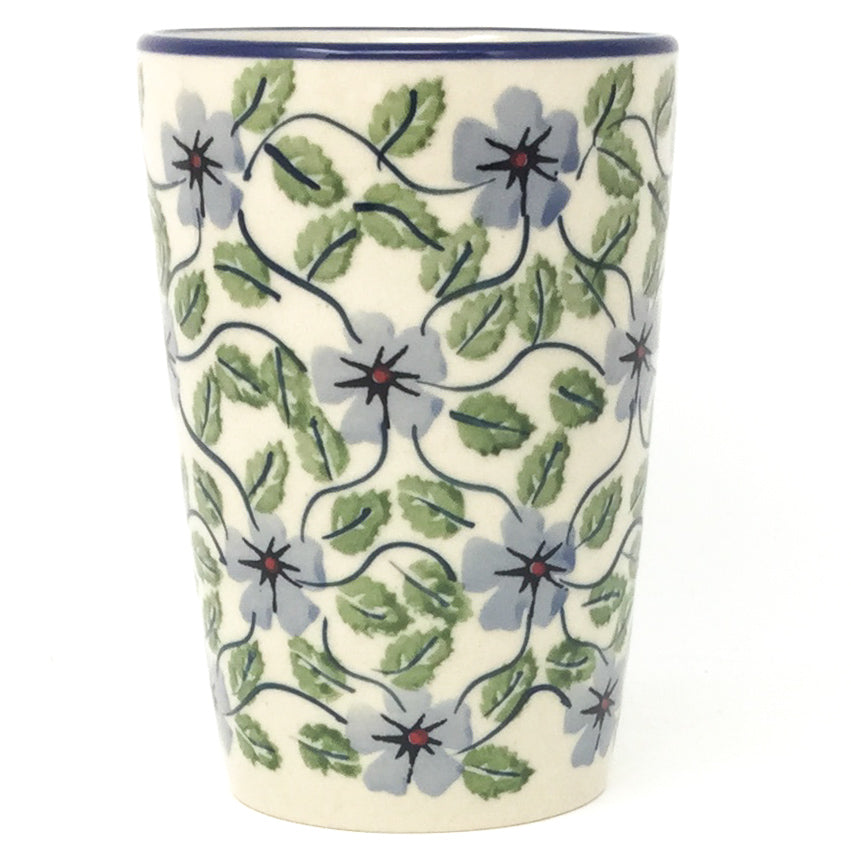 Toothbrush Holder/Cup in Blue Clematis