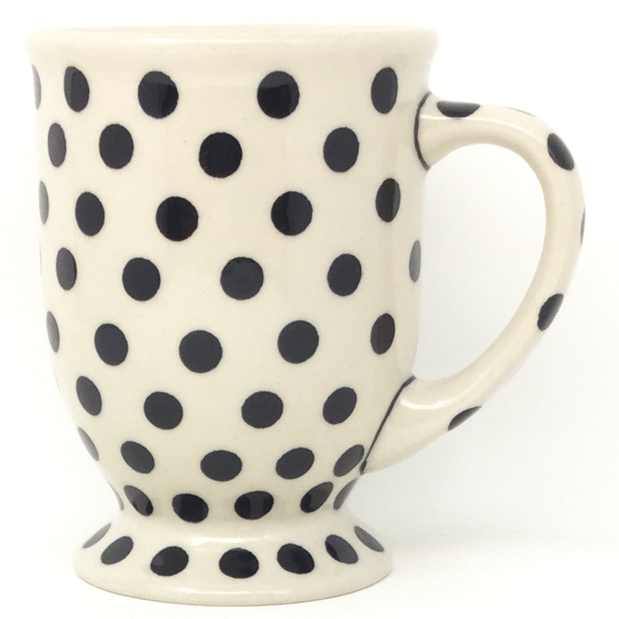 Pedestal Cup 12 oz in Black Polka-Dot