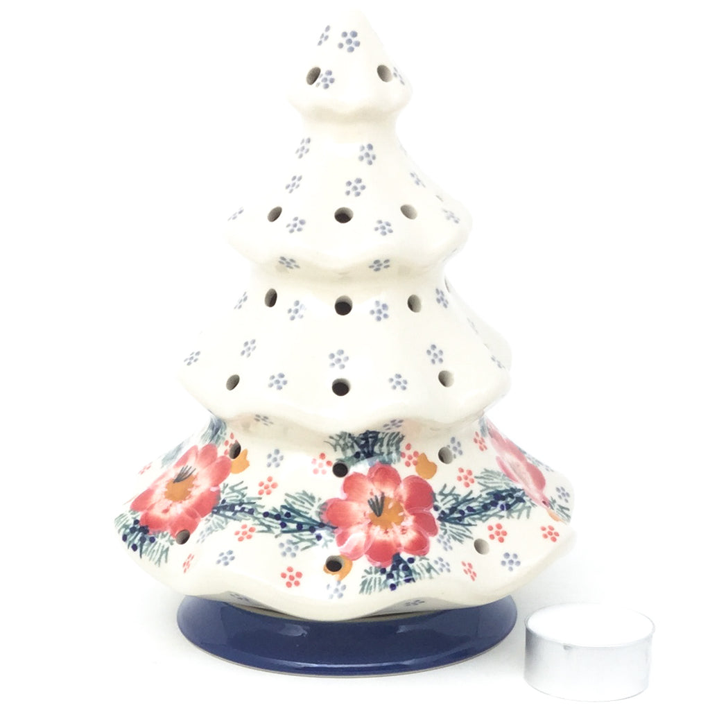 Tree Tea Candle Holder in Floral Cluster