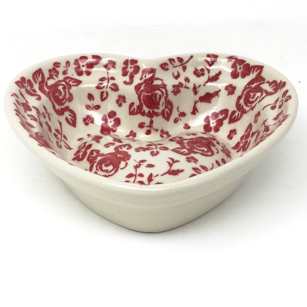 Sm Hanging Heart Dish in Antique Red