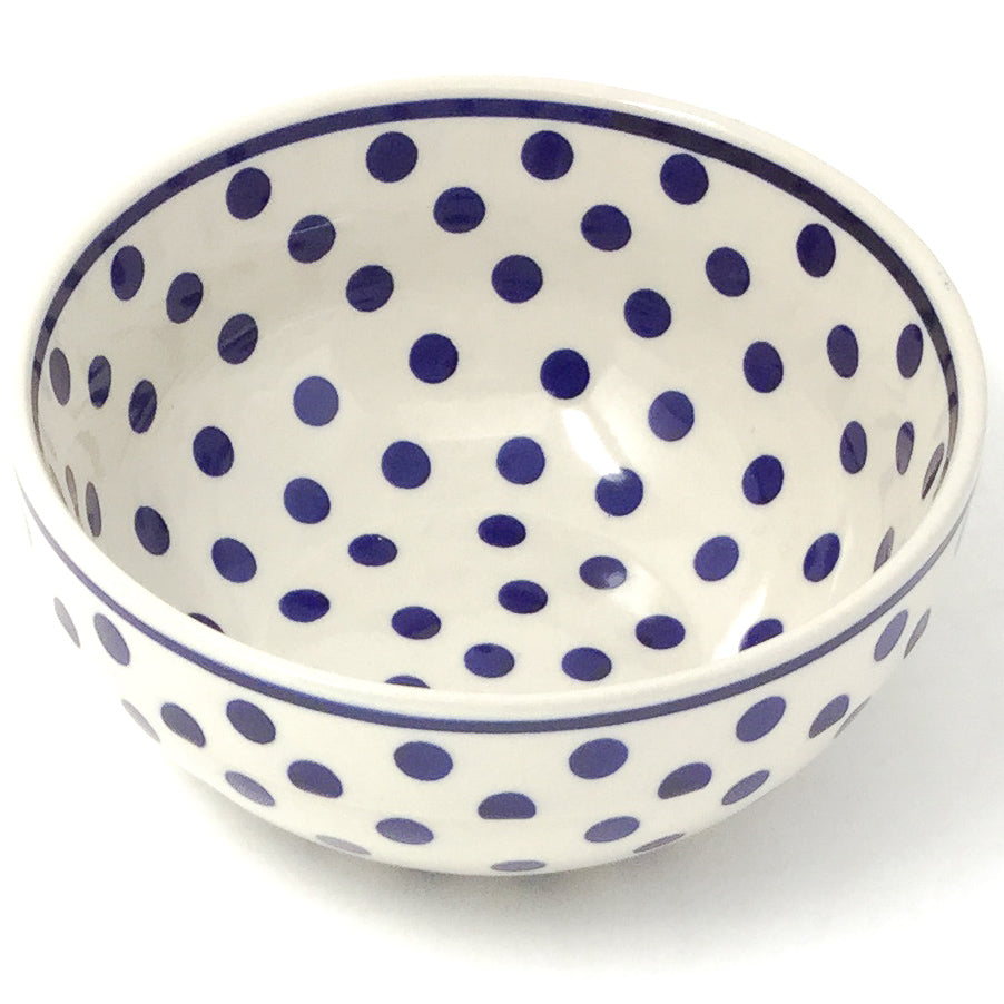 Soup Bowl 24 oz in Blue Polka-Dot
