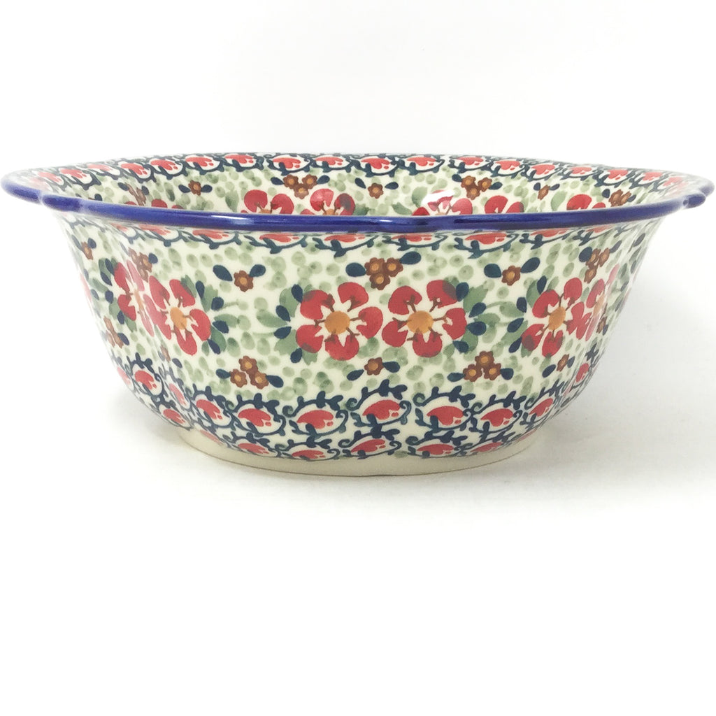 Md Retro Bowl in Red Poppies