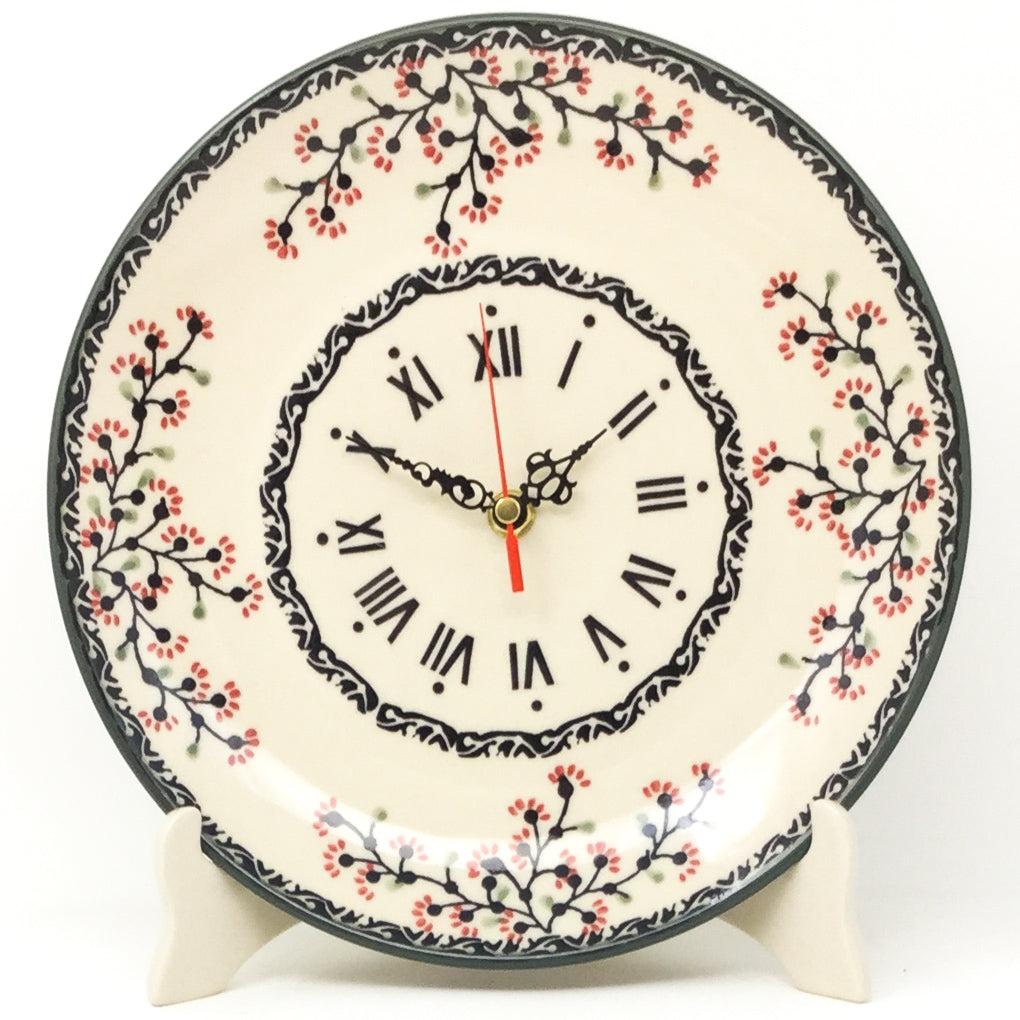 Plate Wall Clock in Japanese Cherry