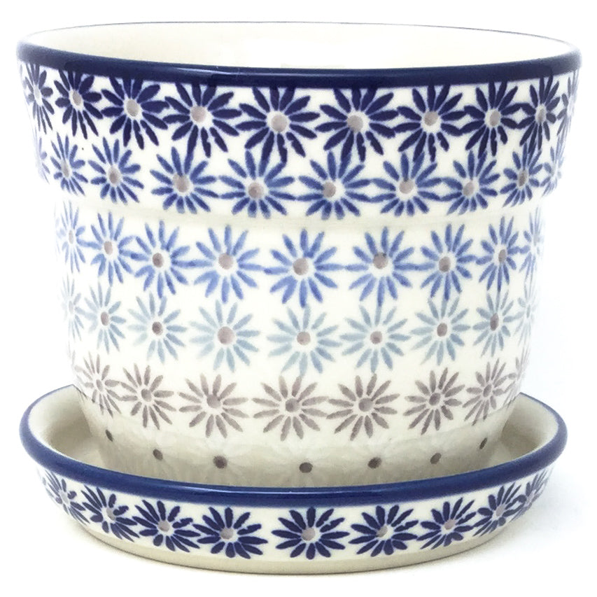 Sm Flower Pot w/Plate in All Stars