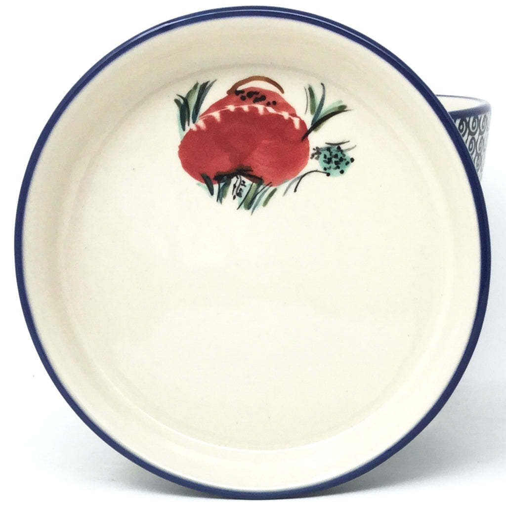 Md Flower Pot w/Plate in Polish Poppy