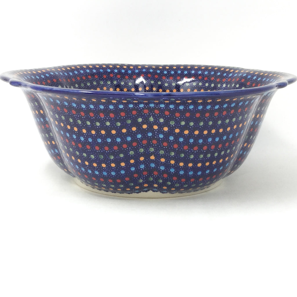 Md Retro Bowl in Multi-Colored Dots