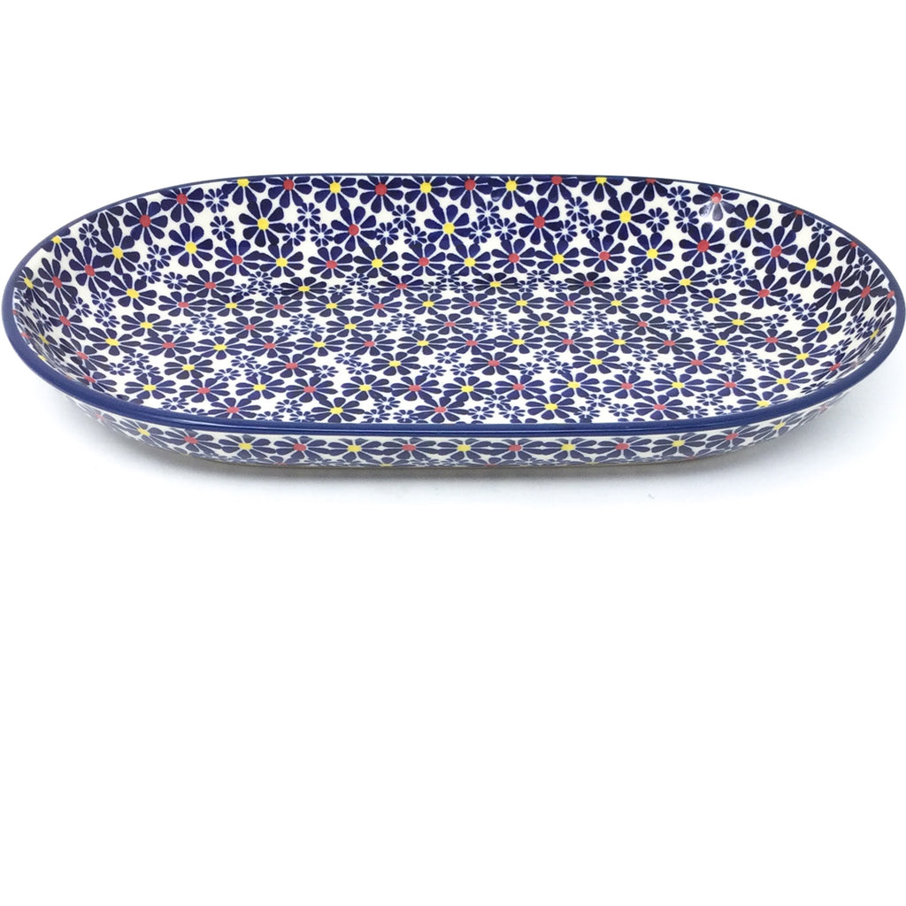 Md Oval Platter in Flowers on White