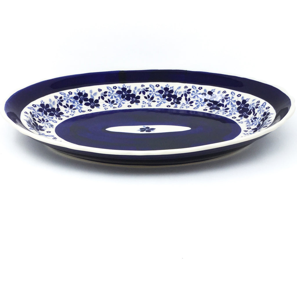 Oval Basia Platter in Cobalt Wedding