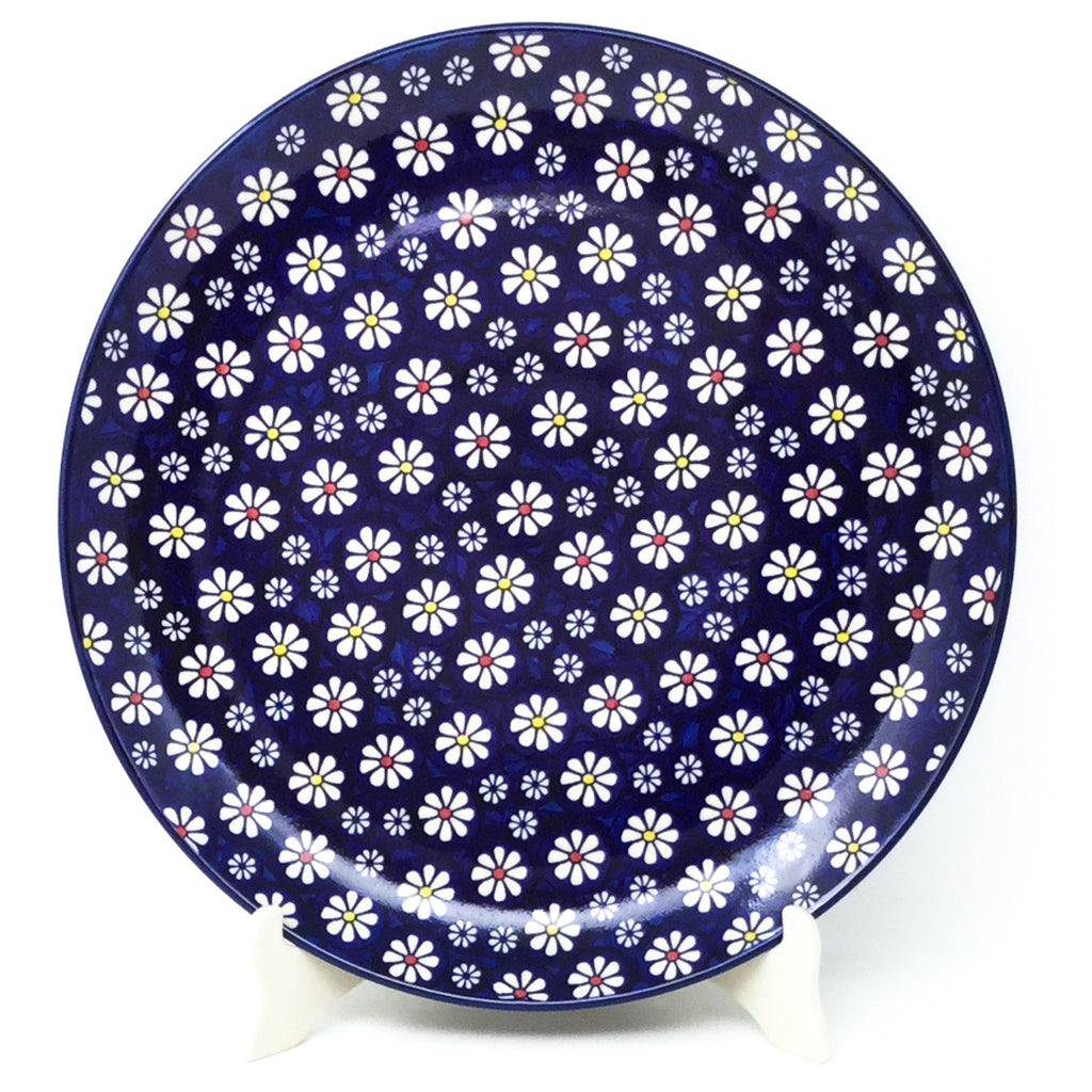 "Round Platter 12.5"" in Flowers on Blue"