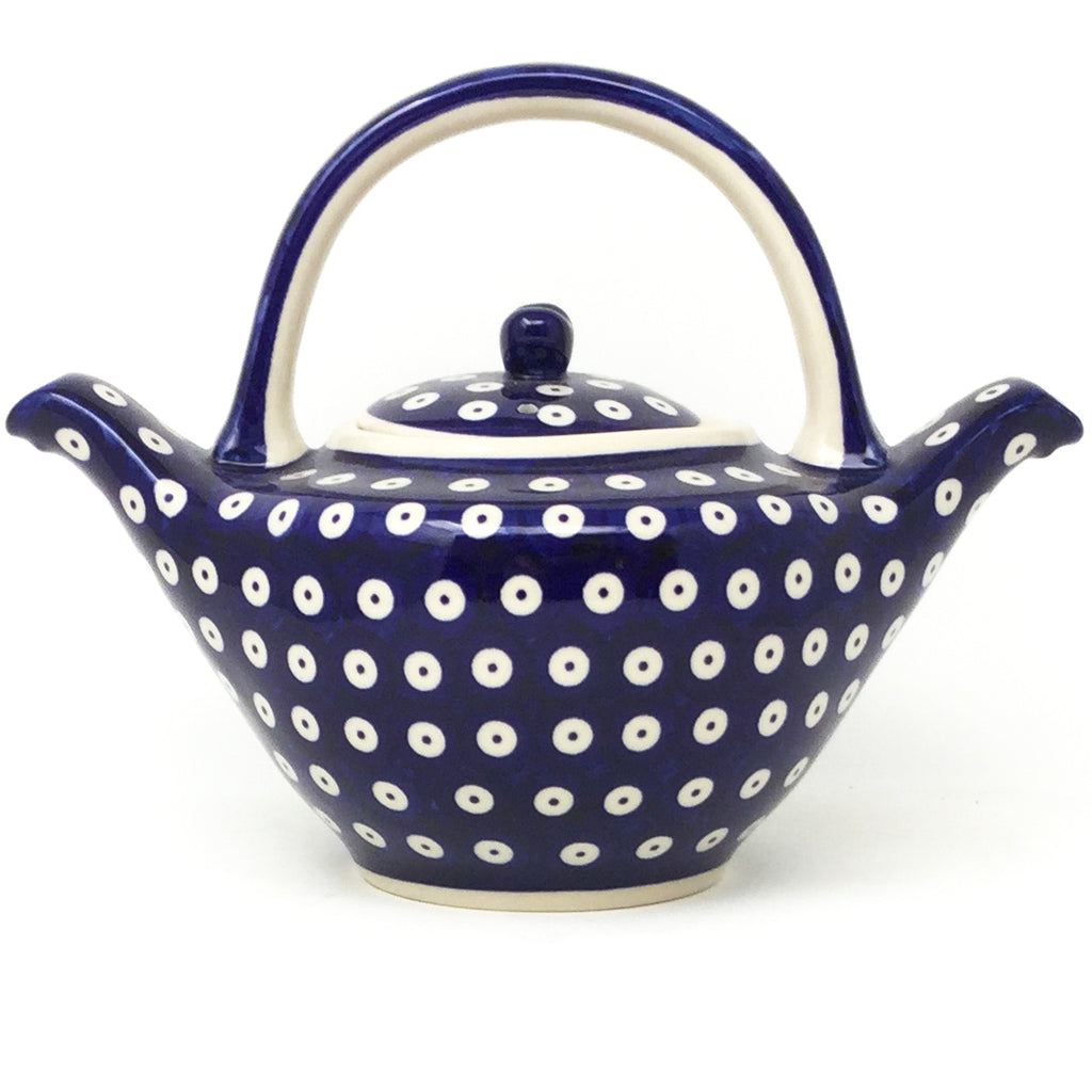 Green Tea Pot 1 qt in Traditional Blue