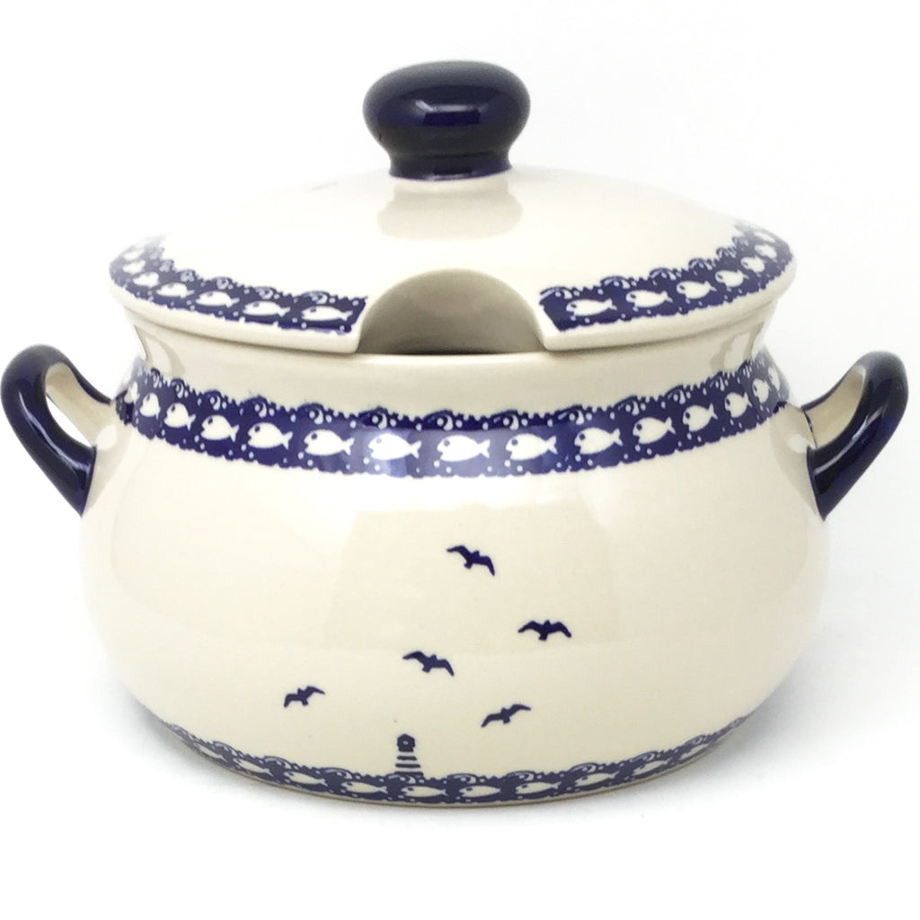 Covered Tureen 4 qt in Lighthouse