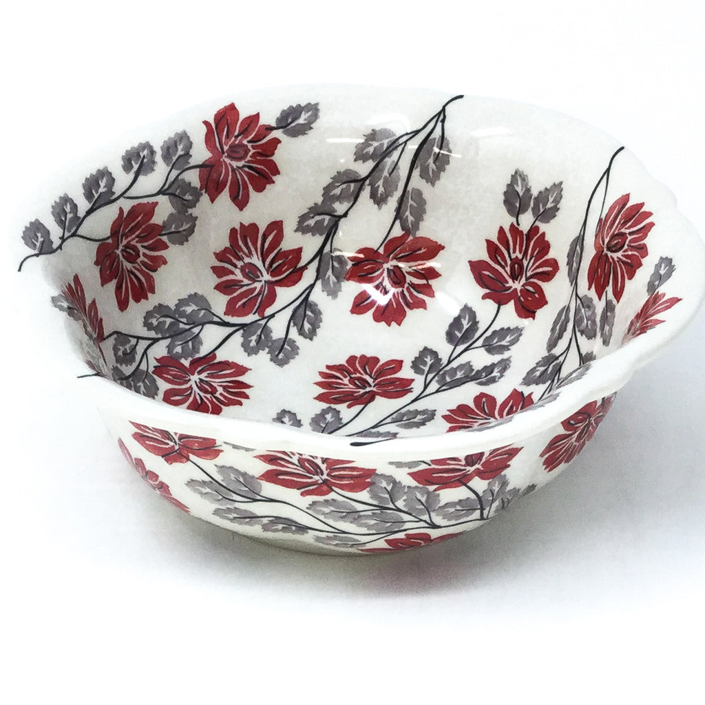 Sm Retro Bowl in Red & Gray