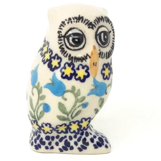 Owl-Miniature in Blue Tulips