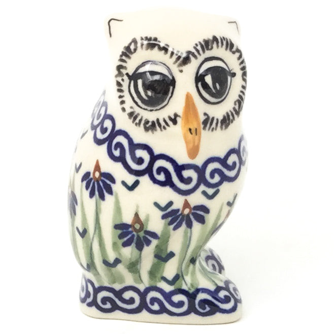Owl-Miniature in Blue Iris