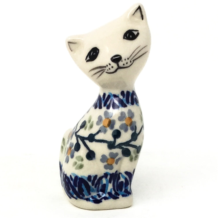 Sm Cat-Miniature in Blue Meadow