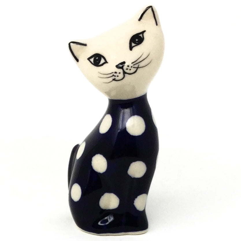 Sm Cat-Miniature in White Polka-Dot